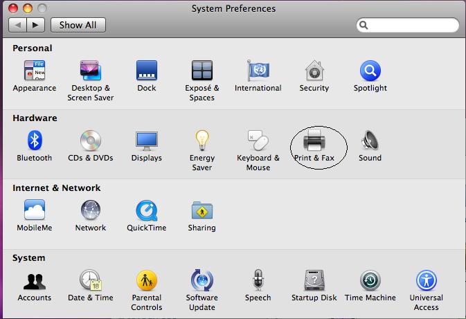 How to hook up a printer to a mac desktop